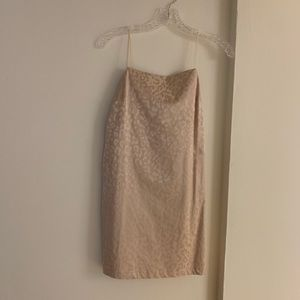 Topshop pale gold leopard print mini dress SIZE 4